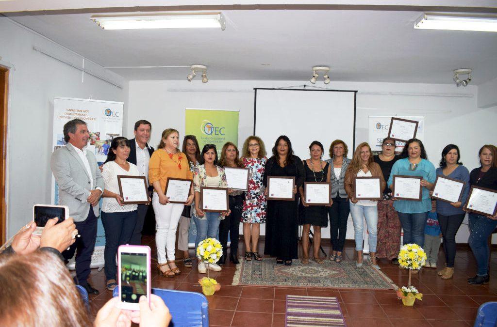 Ceremonia de Certificación Curso «Fabricación Artesanal de Muebles de Madera» – Puchuncaví Feb. 2019